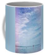 Vermont Summer Beach Boats Clouds Coffee Mug