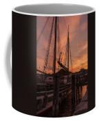 Vermont Sunrise Boats Pier Lake Champlain Coffee Mug