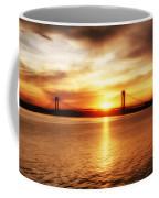 Verrazano Bridge At Sunset Coffee Mug