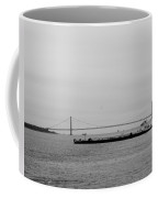 Verrazano Bridge In Black And White Coffee Mug