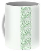 Vertical Panoramic Grunge Etching Sage Color Coffee Mug