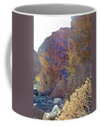 Vertical View Of Big Painted Canyon Trail In Mecca Hills-ca Coffee Mug