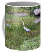 Very Hungry Blue Heron Coffee Mug