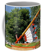 Very Large Pipestone Pipe Sculpture By Former Rock Island Line Railroad Depot In Pipestone-minnesota Coffee Mug