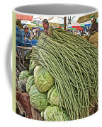 Very Long String Beans In Mangal Bazaar In Patan-nepal Coffee Mug