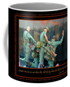 Veterans At Vietnam Wall Coffee Mug by Carolyn Marshall