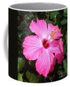 Vibrant Pink Hibiscus Coffee Mug