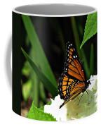 Viceroy On Hydrangea Coffee Mug