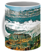 Victoria Glacier From Plain Of Six Glaciers Trail In Banff Np-ab Coffee Mug