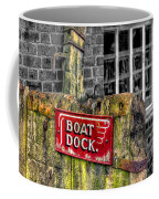 Victorian Boat Dock Sign Coffee Mug by Adrian Evans