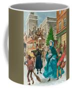 Victorian Christmas Scene Coffee Mug