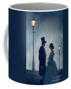 Victorian Couple At Nighttime Under Gas Lights  Coffee Mug