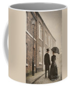Victorian Couple On A Cobbled Street Coffee Mug