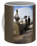 Victorian Couple Walking In The Grounds Coffee Mug