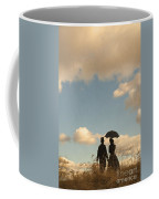 Victorian Couple With Top Hat And Parasol Coffee Mug