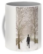 Victorian Gentleman In Snow Coffee Mug