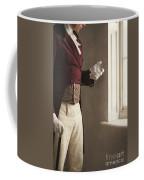 Victorian Gentleman Looking At His Pocket Watch Coffee Mug