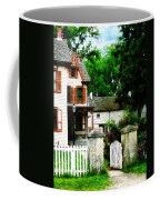 Victorian Home With Open Gate Coffee Mug