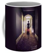 Victorian Lady In Hallway Coffee Mug