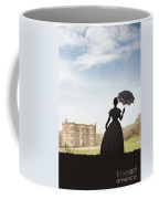 Victorian Woman Approaching A Country Estate Coffee Mug
