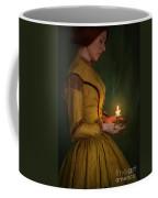 Victorian Woman Holding A Candle Coffee Mug
