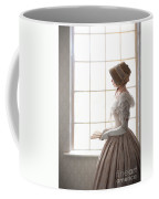 Victorian Woman In Profile At A Window Coffee Mug