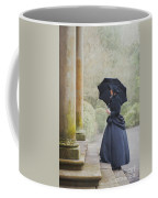 Victorian Woman On Stone Steps Coffee Mug