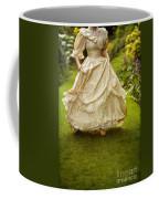 Victorian Woman Running On A Summer Lawn Coffee Mug