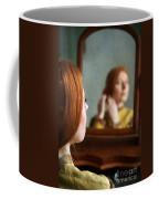 Victorian Woman Using A Dressing Table Mirror  Coffee Mug