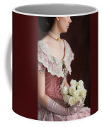 Victorian Woman With Roses Coffee Mug