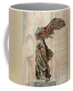 Victory Of Samothrace Coffee Mug by Joey Agbayani