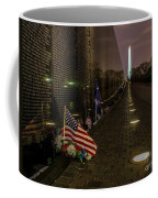 Vietnam Veterans Memorial At Night Coffee Mug