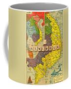 Vietnam War Map Coffee Mug