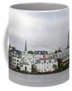 View Across The Tjornin Coffee Mug