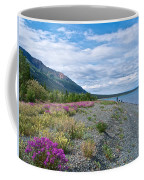 View Four Kluane Lake From Cottonwood Campground Near Destruction Bay-yk Coffee Mug