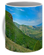 View From Knife Edge Road Overlooking Montezuma Valley In Mesa Verde National Park-colorado   Coffee Mug