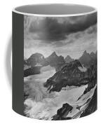 T-303501-bw-view From Quadra Mtn Looking Towards Ten Peaks Coffee Mug