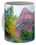 View From South Campground In Zion Np-ut Coffee Mug