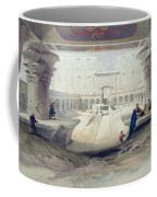 View From Under The Portico Of Temple Coffee Mug