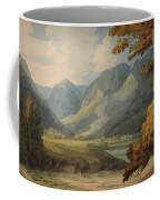 View In Borrowdale Of Eagle Crag And Rosthwaite Coffee Mug