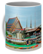 View Of A Temple From Waterway Of Bangkok-thailand Coffee Mug