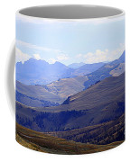 View Of Absaroka Mountains From Mount Washburn In Yellowstone National Park Coffee Mug