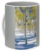 View Of Aspens In Fresh Winter Snow Coffee Mug