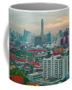 View Of Bangkok Near Dusk From Grand China Princess Hotel In Bangkok-thailand Coffee Mug