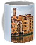 View Of Florence Along The Arno River Coffee Mug