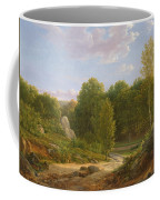 View Of Fontainebleau Forest, 1829 Oil On Canvas Coffee Mug