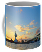 View Of Kaohsiung Harbor Entrance After Sunset Coffee Mug