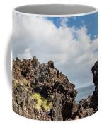 View Of Lava Rock On The Coast, Pico Coffee Mug