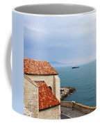 View Of Mediterranean In Antibes France Coffee Mug