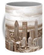 View Of Montreal In Sepia Coffee Mug